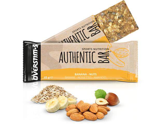 OVERSTIM.s Authentic Boîte de barres 6x65g, Banana Almond